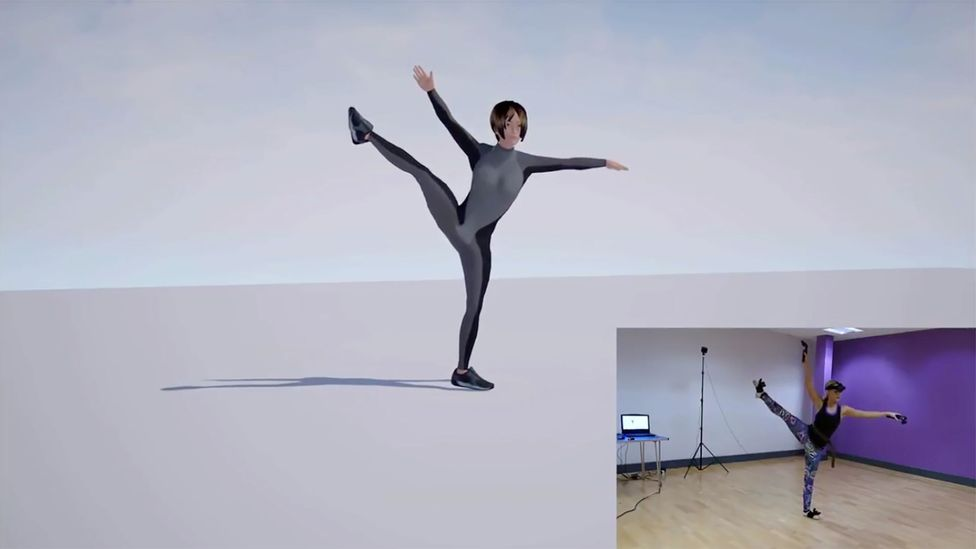 Virtual avatars like VTubers come alive by mixing voice actor performances and body movements tracked with motion-capture technology (Credit: IKinema)