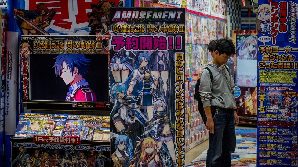 Akihabara, a neighbourhood in Tokyo, is the epicentre for Japan's anime and gaming culture that has spread all over the world and fueled VTuber popularity (Credit: Getty Images)
