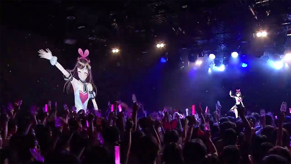 Kizuna Ai performs for fans at her birthday party in Tokyo in June (Credit: A.I.Channel)