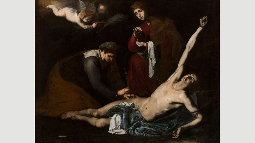 Ribera's images – such as Saint Sebastian Tended by the Holy Women, 1620-23 – reveal a complex engagement in depicting bodily suffering (Credit: Museo de Bellas Artes de Bilbao)