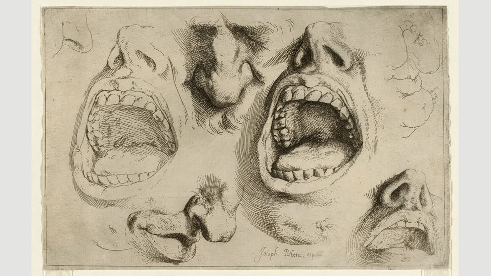 Ribera painted directly from the live model, creating many anatomical sketches such as Studies of Nose and Mouth, c 1622 (Credit: The Trustees of the British Museum)