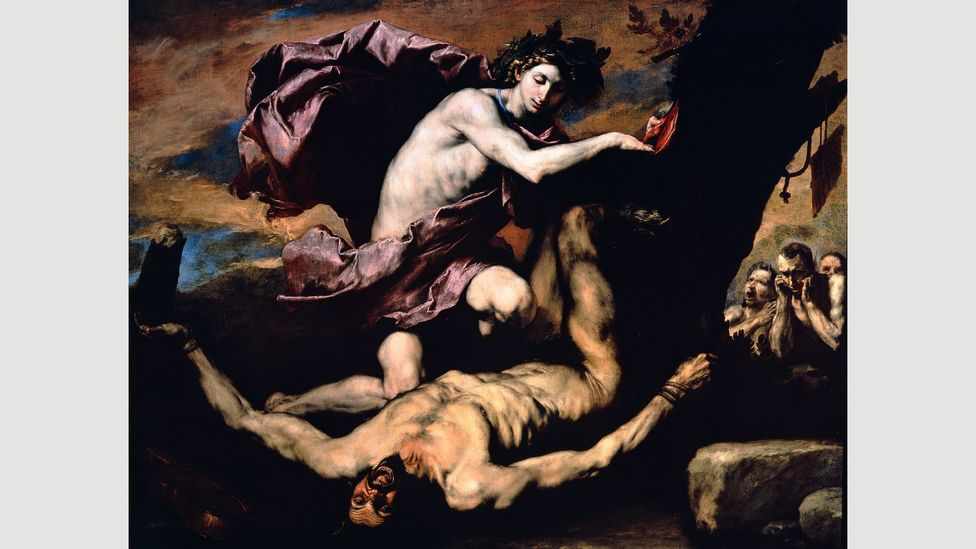 Apollo and Marsyas (1637) features one of Ribera's favourite themes: a body being skinned alive (Credit: Museo e Real Bosco di Capodimonte, Naples)