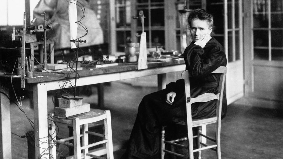 Marie Curie was the first woman to win a Nobel prize in physics; she shared the 1903 award with her husband Pierre (Credit: Getty)