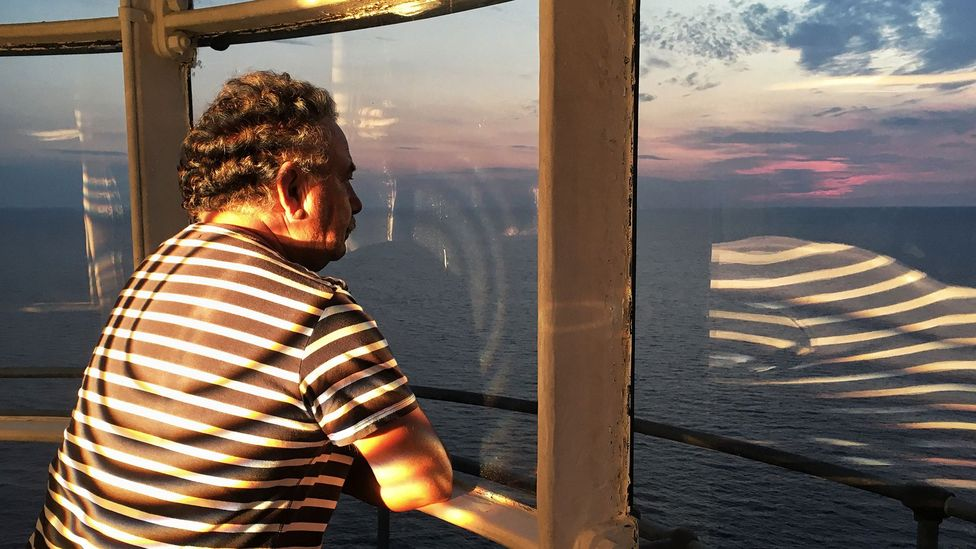 Carlo D'Oriano has manned the Punta Carena lighthouse for the past 13 years (Credit: Eliot Stein)