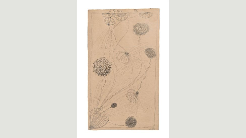 Along with four female spiritualists, Af Klint created works such as this untitled drawing while in a trance-like state (Credit: Albin Dahlström, the Moderna Museet, Stockholm)