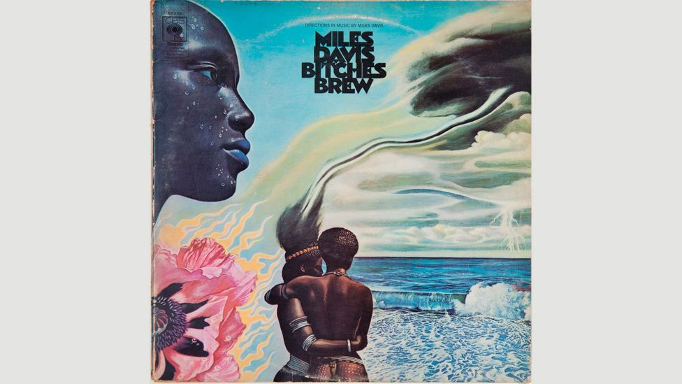 Mati Klarwein painted Miles Davis's Bitches Brew cover, one example of the classic psychedelic imagery found on record sleeves and posters (Credit: Alamy)