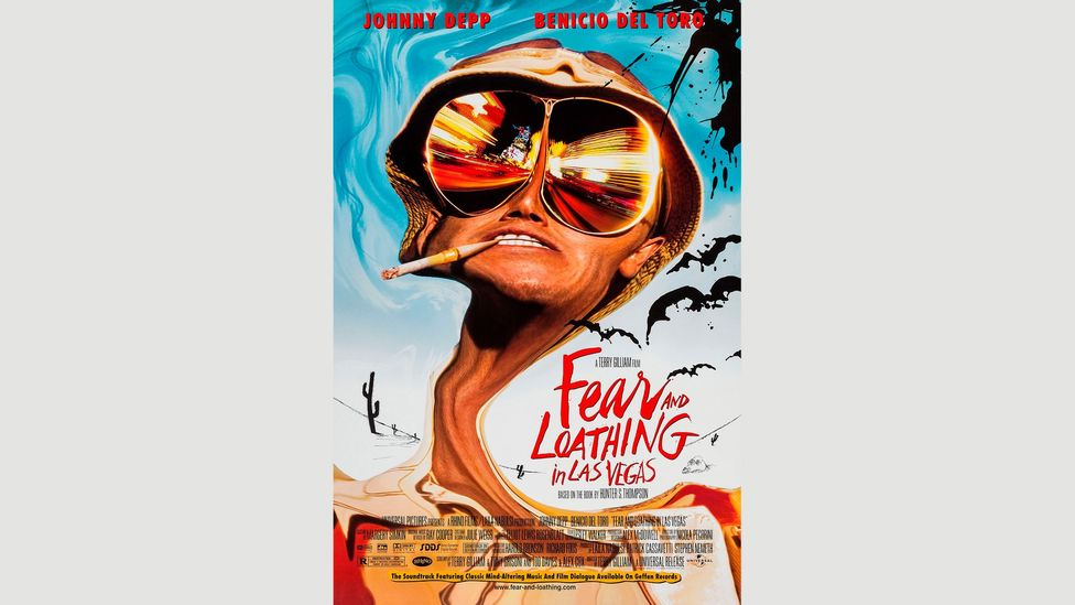 Hunter S Thompson's Fear and Loathing in Las Vegas – and the 1998 film adaptation by Terry Gilliam – have become cult classics (Credit: Alamy)