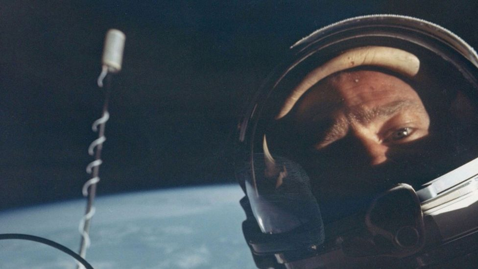 Buzz Aldrin in space (Credit: London Stereoscopic Company)