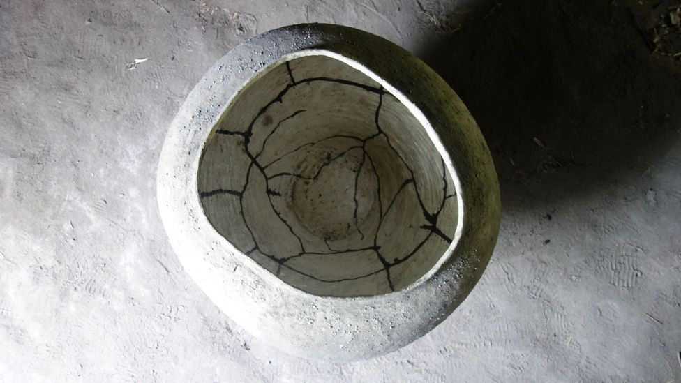 Kazunori Hamana's clay artwork is often considered to have an element of wabi-sabi (Credit: Lily Crossley-Baxter)
