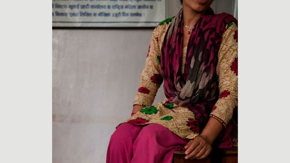 Three years ago, Sabita reported abuse here; she regularly refers other women to the centre now (Credit: Bunu Dhungana)