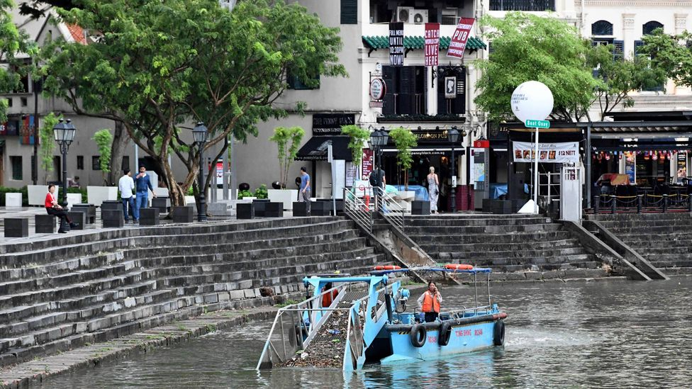 In 1977 there was a major clean up of the rivers in Singapore - they're now clean enough to supply drinking water (Credit: Getty Images)