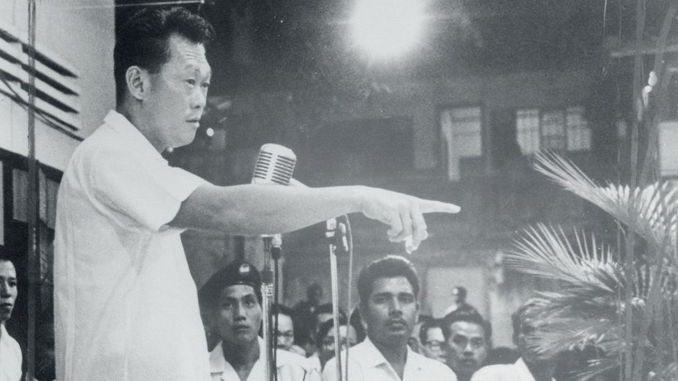 First Prime Minister of Singapore - governing from 1959 to 1990 - Lee Kuan Yew was the architect of the clean up campaign (Credit:Getty Images)