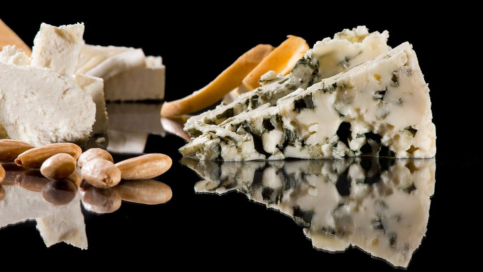 At 2.7g per 100g of cheese, blue cheese has more salt than seawater (Credit: Getty)