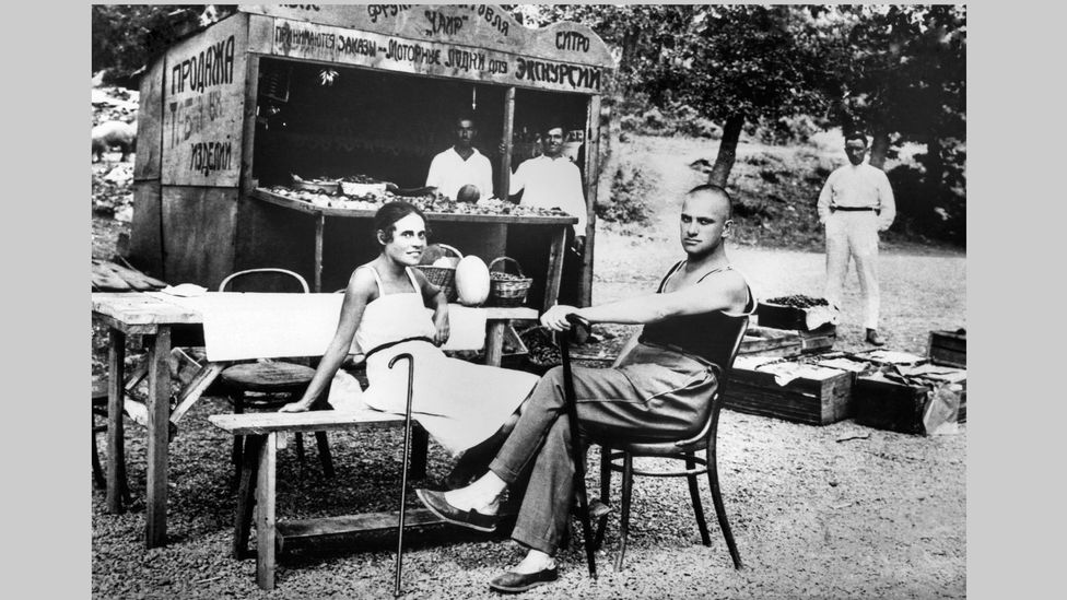 Lilya Brik and Vladimir Mayakovsky – Lilya and her husband Osip both fell in love with the poet, and their ménage à trois lasted 15 years (Credit: Getty Images)