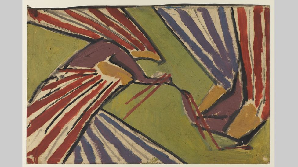 Design with confronted peacocks, 1913-14, by Roger Fry, one of the Bloomsbury group (Credit: The Samuel Courtauld Trust, the Courtauld Gallery, London)