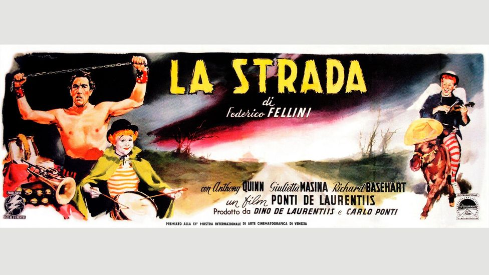 Fellini's early Neo-realism was cast aside for such sentimental picaresques as 1954's La Strada (Credit: Alamy)
