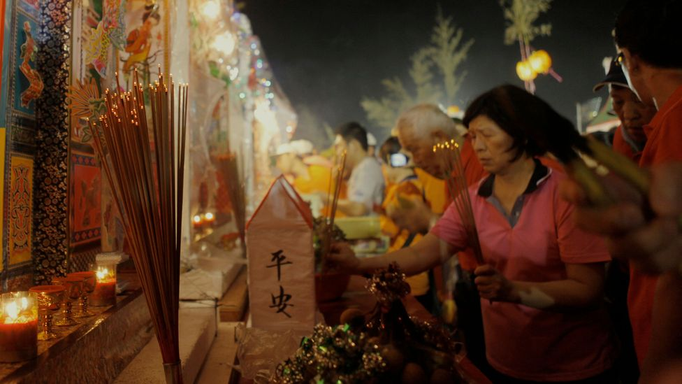 A month long festival is held in Taiwan where the gates of the underworld are believed to open so the dead can return to the land of the living (Credit: Ashley Pon/Getty Images)