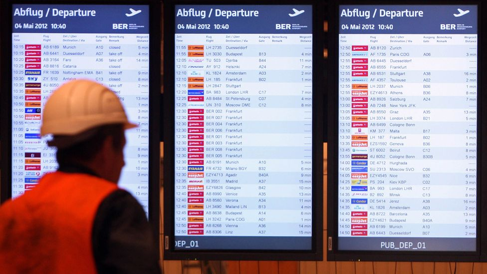 All 750 of the monitors showing flight information had to be replaced earlier in 2018 - at a cost of €500,000 (Credit: Getty Images)