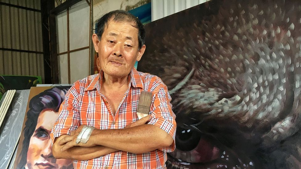 Yan Jhen-Fa has never met a film star, but he's painted many