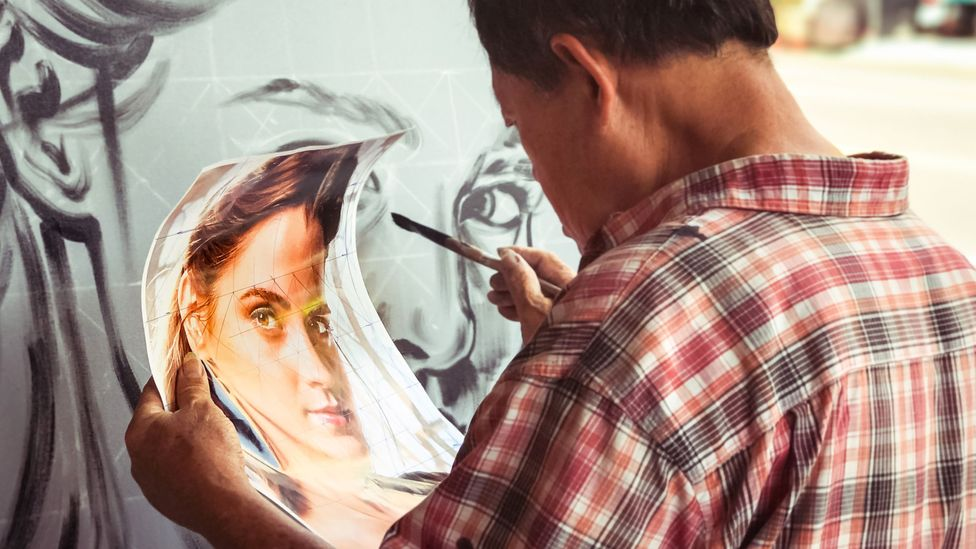 It takes Yan Jhen-Fa two to three days to complete a painting