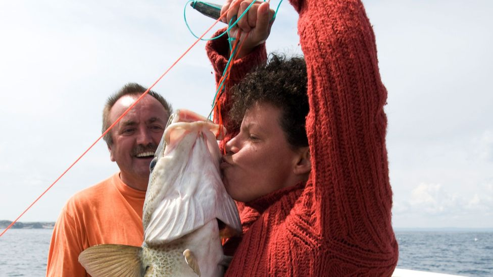 The centrepiece of the screech-in ceremony involves kissing a codfish (Credit: Ned White, Inc./Getty Images)