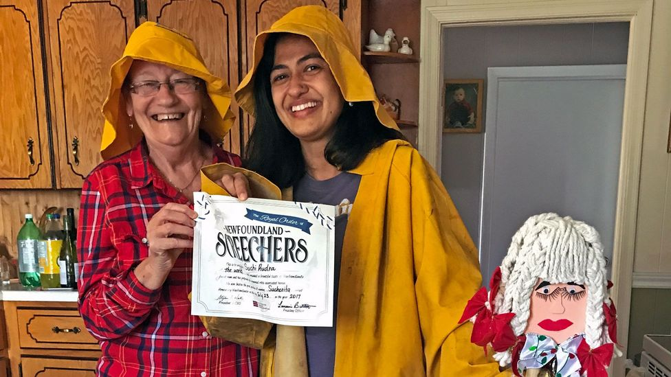 Those who complete the screech-in are awarded a certificate and officially welcomed to the Newfoundland community (Credit: Suchi Rudra)