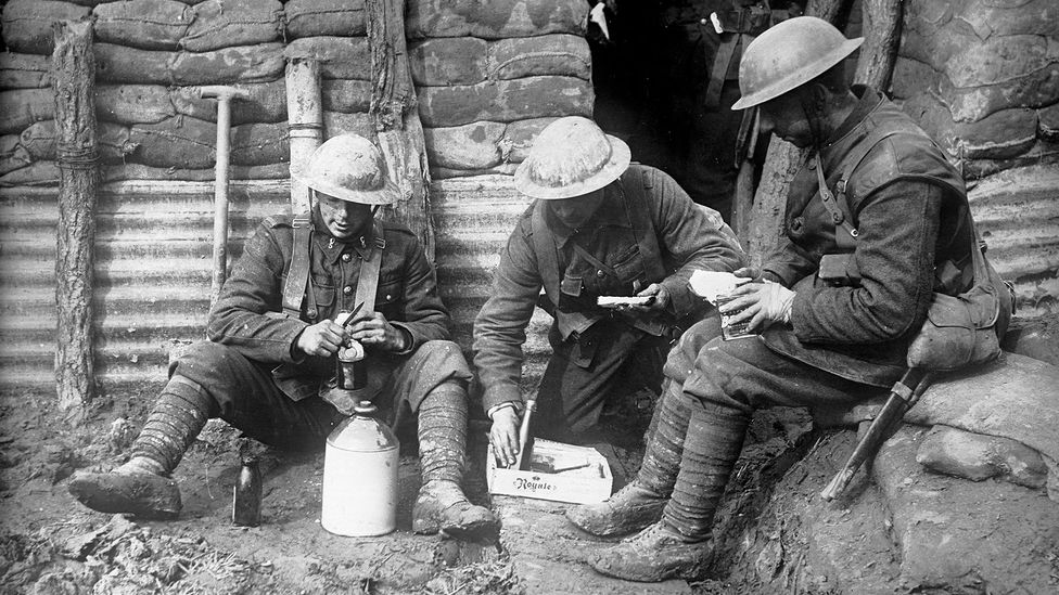The World War One trenches proved to be a perfect breeding ground for Spanish flu (Credit: Getty Images)
