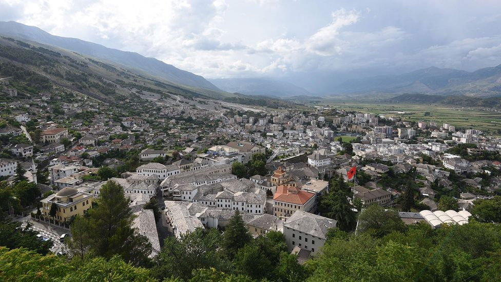 Gjirokaster was home to factories which helped produce parts for the bunkers (Credit: Getty Images)