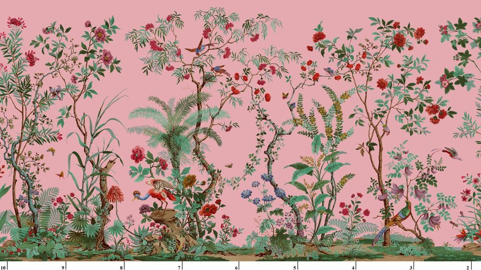 Fond Rose by Zuber. The French company has been creating wallpaper since 1797 (Credit: Zuber)