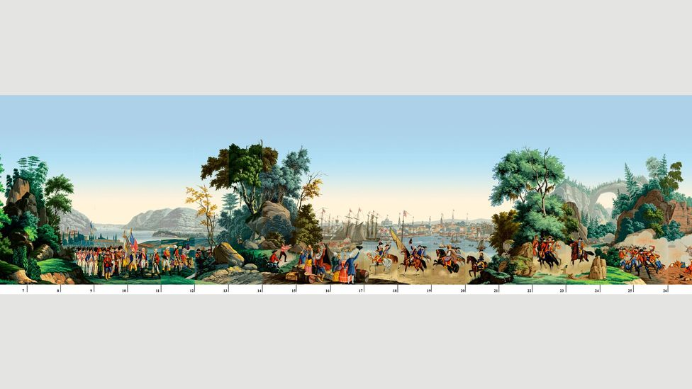 Zuber's panoramic wallpaper design, Guerre Indépendance  (Credit: Zuber)