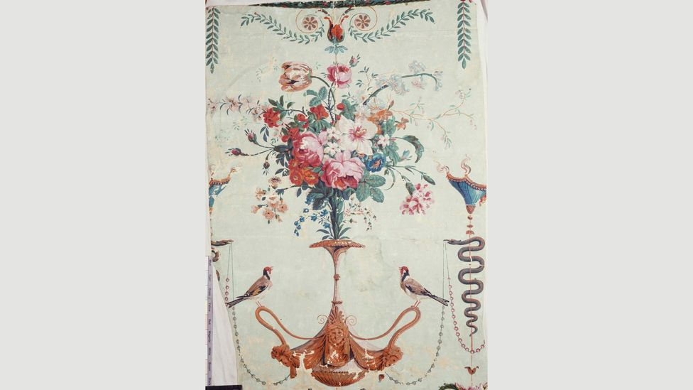 Parisian panel design created in the 1780s by Réveillon. It was a type popular with the aristocracy (Credit: V&A)