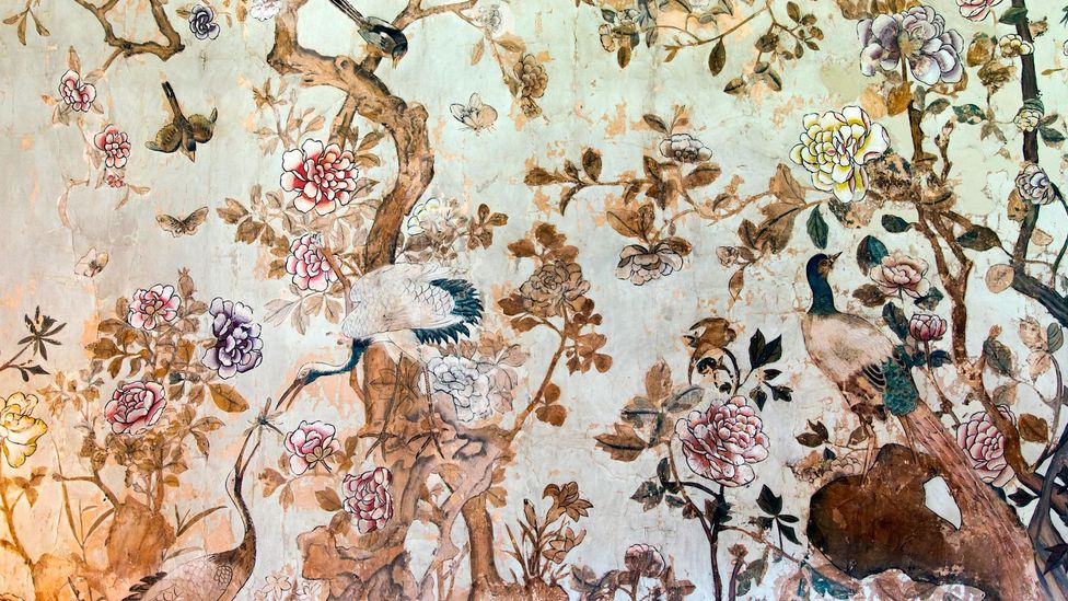 Chinoiserie was popular in the stately homes of England, such as the one seen here at National Trust property, Ightham Mote (Credit: Alamy)