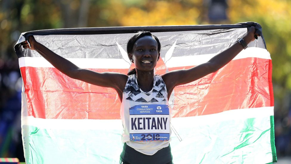Kenya's Mary Keitany won the New York City Marathon with a time of 2:22:48 – just 17 seconds behind the 2003 record set by Margaret Okaya (Credit: Getty)