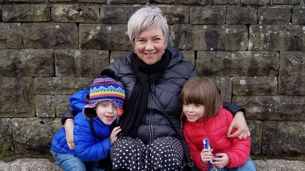 After discovering the prohibitively expensive costs of childcare, Jenny Glancy-Potter was not able to return to work after having twins at 40 (Credit: Jenny Glancy-Potter)
