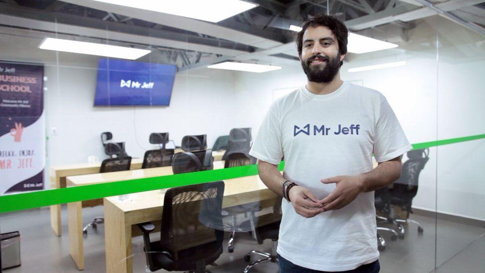 Finding Spanish job prospects bleak after university graduation, Eloi Gómez, 26, founded laundry delivery start-up Mr Jeff in Valencia (Credit: Eloi Gómez)