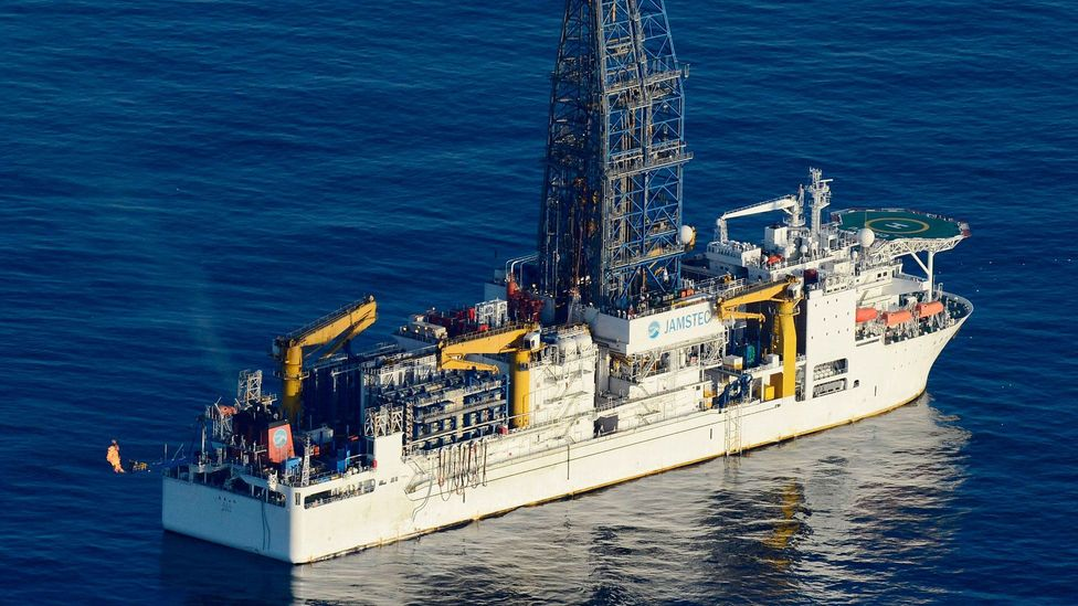 In 2013, the deep-sea drilling vessel Chikyu succeeded in extracting methane hydrate from the waters around central Japan (Credit: Getty Images)