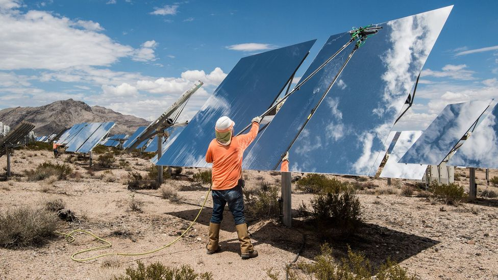 …as this kind of image, which participants thought was an intriguing take on solar energy that encouraged them to want to know more (Credit: Dennis Schroeder/NREL)