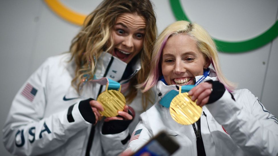 An Olympic gold medal weighs around half a kilogram, and must contain at least 6g of the precious metal (Credit: Getty Images)