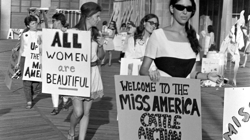 While The White Album was being recorded, second-wave feminists protested the Miss America pageant in Atlantic City (Credit: Getty)