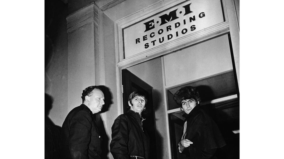 The Beatles entered Abbey Road Studios to start recording on 30 May, and administered the finishing touches on 14 October 1968 (Credit: Getty)