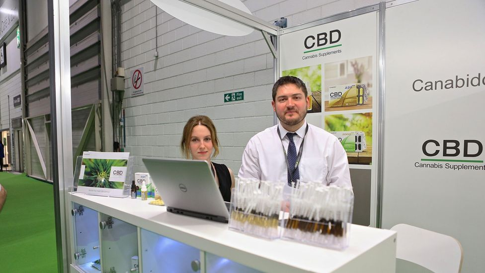 Products infused with CBD appear in many different forms – sweets, dog biscuits, and even syringes filled with pure cannabidiol (Credit: Alamy)