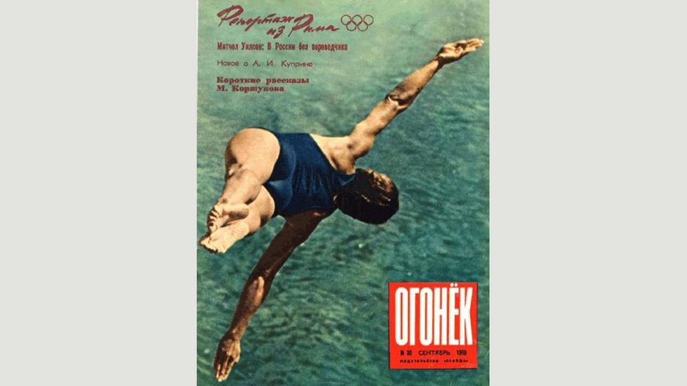 Lev Borodulin, Diver on the cover of Ogoniok magazine (Credit: Copyright the artist courtesy Atlas Gallery)