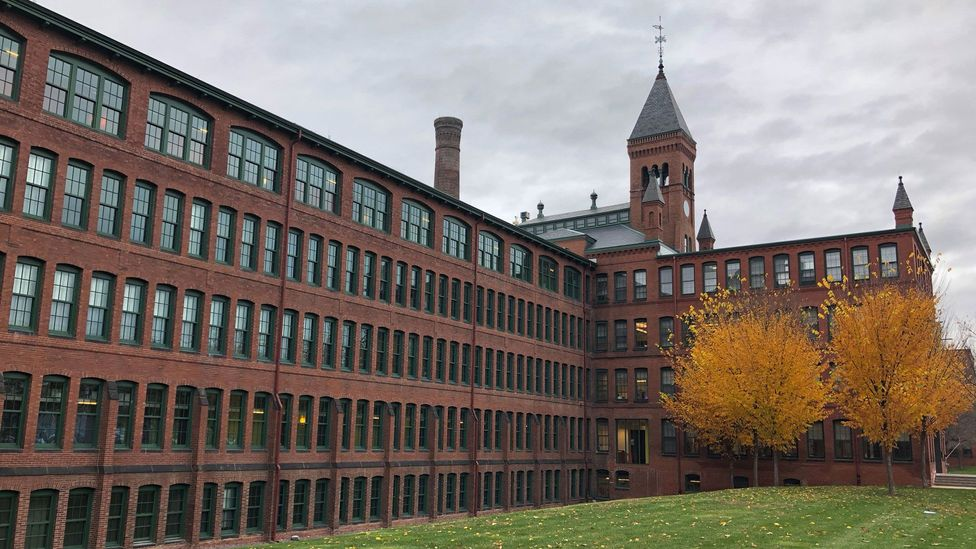 Today, the Waltham Watch Company factory is a residential and retail space (Credit: Linda Laban)