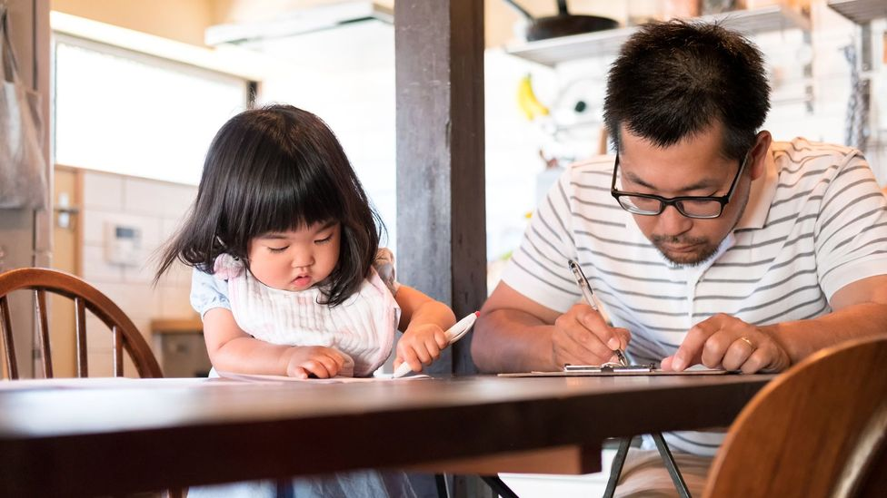 The uptake of paternity leave in Japan has risen from 2 to 7 percent - a sign that opinions are changing (Credit: Getty Images)