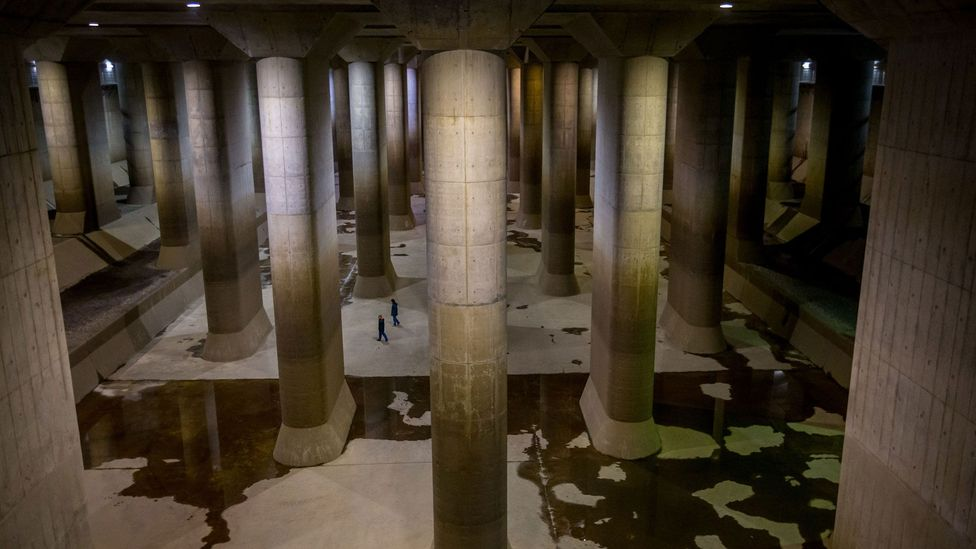 The Metropolitan Area Outer Underground Discharge and its floodwater cathedral cost $2 billion to build (Credit: Getty Images)