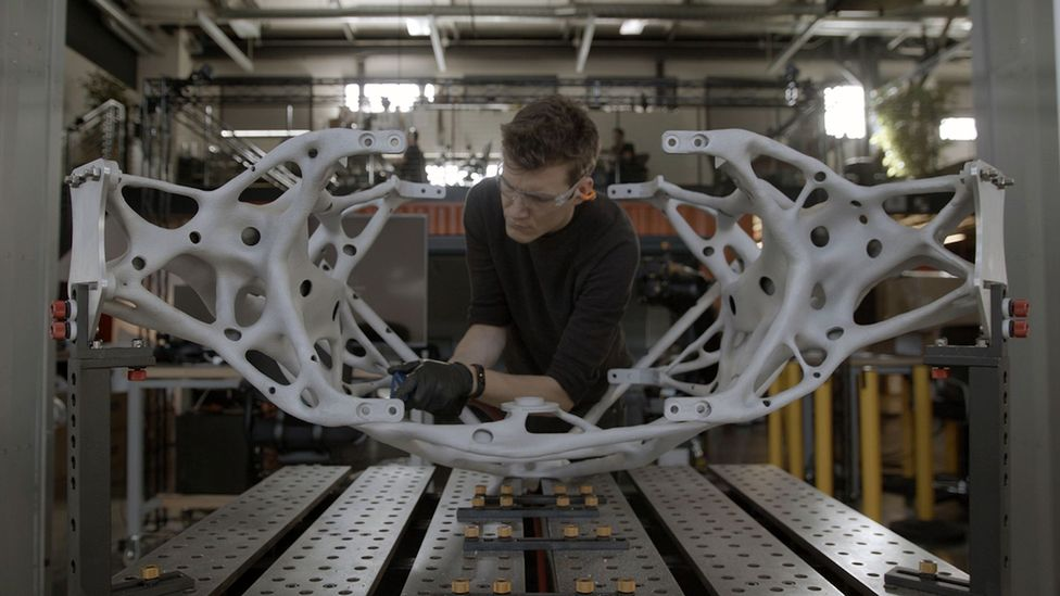 Using a silicon-based designer allowed Nasa to reduce the weight of the legs of its interplanetary lander concept by more than a third (Credit: Autodesk, Inc)