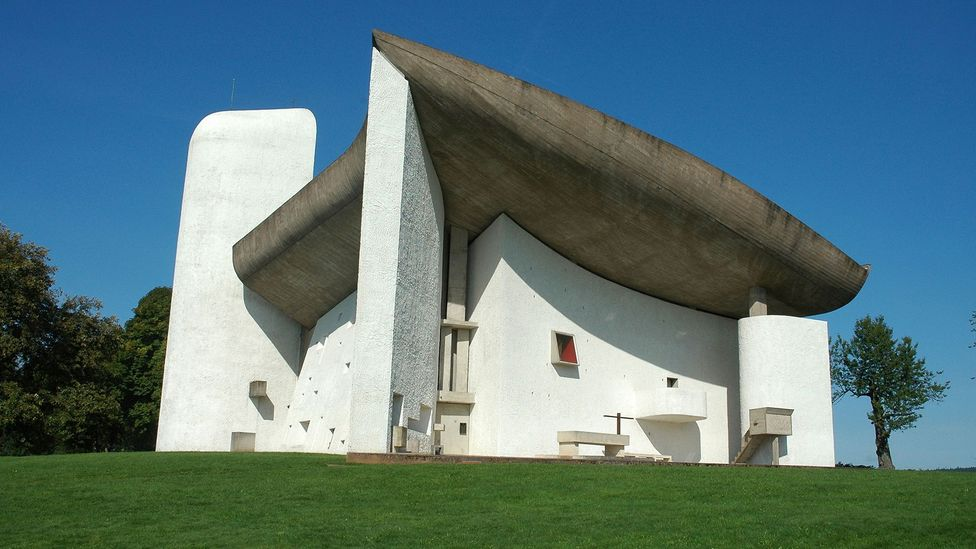 AI-aided design could lead to exciting new buildings that rival those created by architect Le Corbusier like the Notre-Dame-du-Haut chapel in Ronchamp, France (Credit: Alamy)