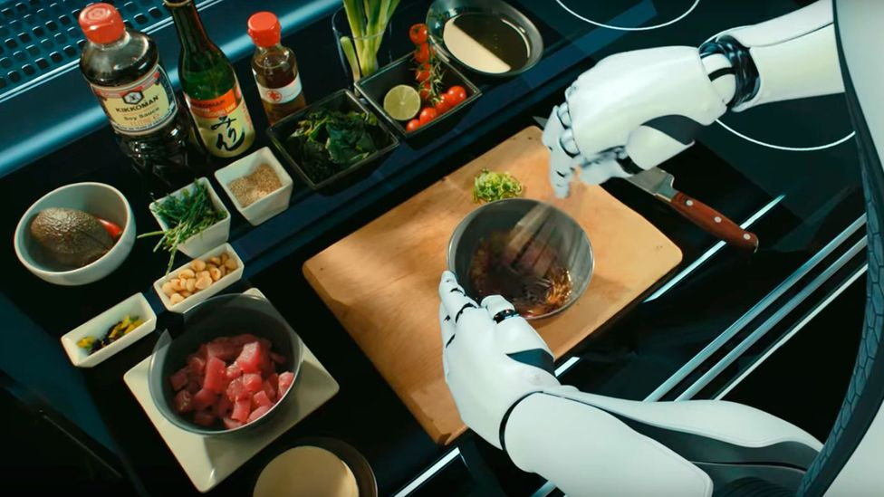 Robots trained on actions of professional chefs can replicate recipes from a huge library of options in the home (Credit: Moley Robotics)