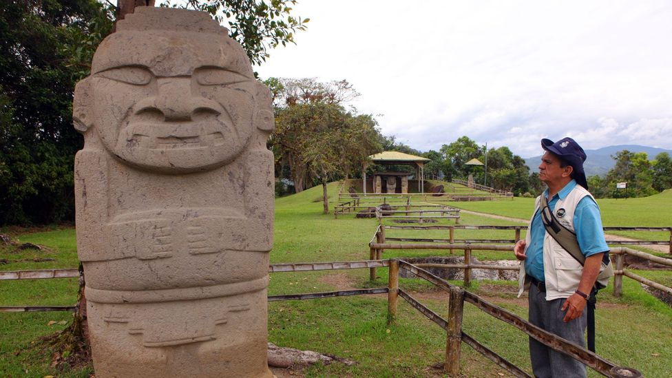 The Parque Arqueológico de San Agustín protects hulking stone statues hewn from volcanic tuff (Credit: Christopher P Baker)