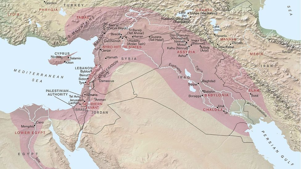 The Assyrian empire stretched over a vast area that includes modern day Iraq, Turkey and Egypt (Credit: Paul Goodhead)